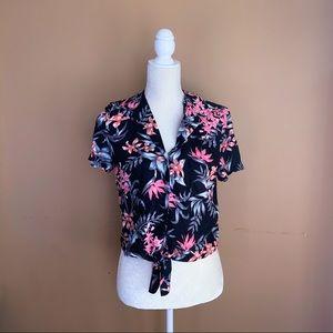 | H&M | Flower Crop Top